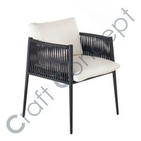 METAL CHAIR WITH STRIPS SEAT