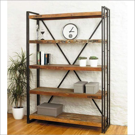 Wooden Iron Shelf