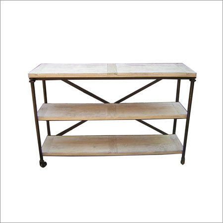 Wood Tops Iron Shelf