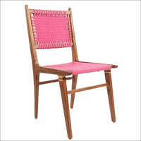 Wooden and Cotton Caining Chair
