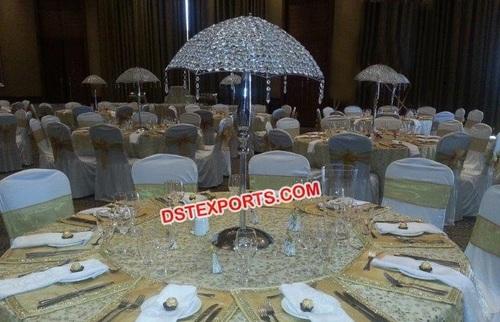 Crystal Umbrella table centerpieces