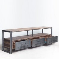 Vintage industrial Media Console Unit