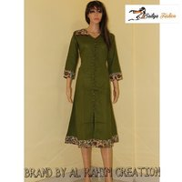 cotton green kurti