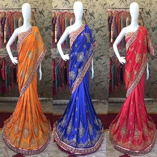 Paper Silk Heavy Work Designer Saree
