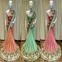 Resham Embroidery Designer Saree
