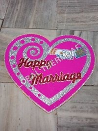 Thermocol Just Married Heart