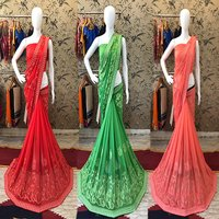 Fancy Chiffon Karachi Work Saree