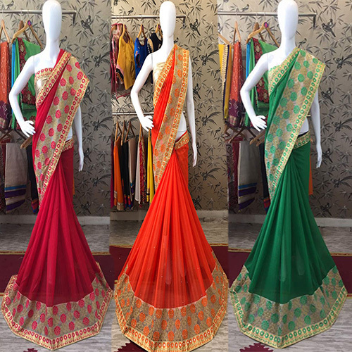 c1741d7012a057 Mirror Work Saree - Manufacturers, Suppliers & Dealers