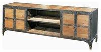 Industrial reclaimed wood sideboard