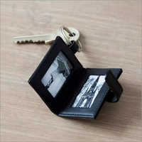 Leather Key Chain with Photo Frame