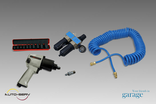 Air Impact Wrench With Accessories)