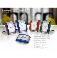 TRANSPARENT FOLDING TABLE CLOCK