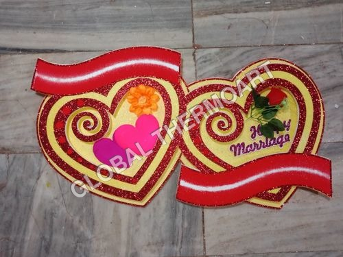 Thermocol Marriage Heart