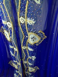 Hand Beaded Royal Takchita Fabric Caftan