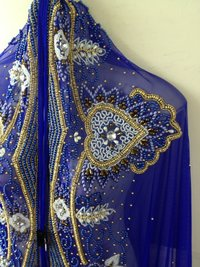 Hand Beaded Royal Takchita Fabric Caftan