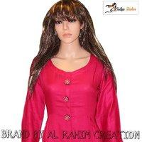 Rayon pink plain kurti