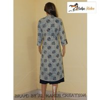 Two piece Daabu cotton kurti with rayon inner