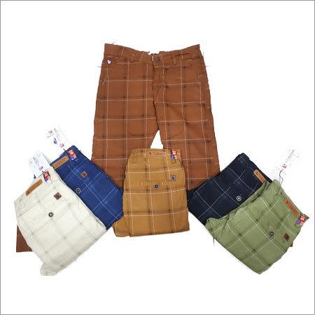 Cotton Check Jeans