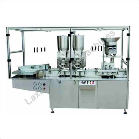 Automatic Dry Powder Injectable Powder Filling With Rubber Stoppering Machine
