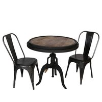 Iron Crank Table & Chair Set