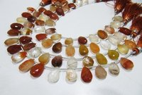 Natural Genuine Copper Rutilated Quartz Pear Shape Briolette Beads