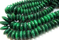 AAA Quality Emerald German Cut Faceted Beads