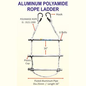 Aluminium Polyamide Rope Ladder