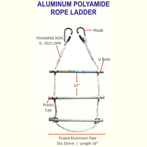 Industrial Aluminum Polyamide Rope Ladder