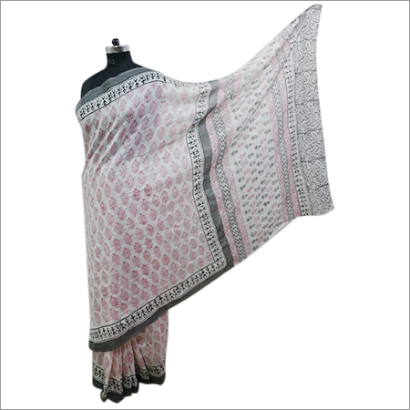 Ladies Chanderi Printed Saree