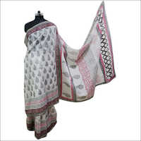 Ladies Hand Block Printed Saree