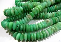 AAA Quality Natural Chrysoprase German Cut Rondelle Faceted Beads
