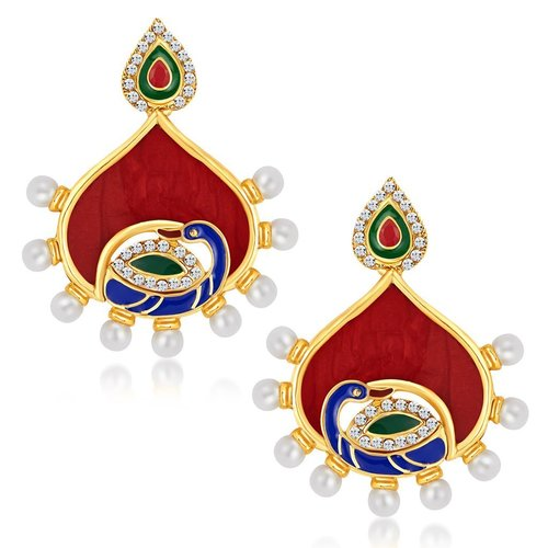 Peacock Shape Australian Diamond Earrings