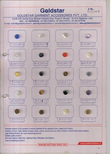 Polyester Buttons