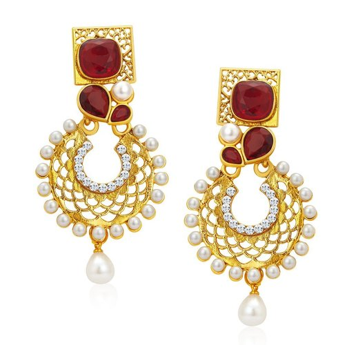 Eye Catchy Gold Plated Earrings