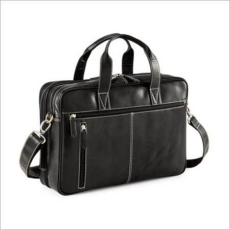 Black Leather Portfolio Bag