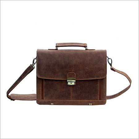 Brown Leather Portfolio Bag