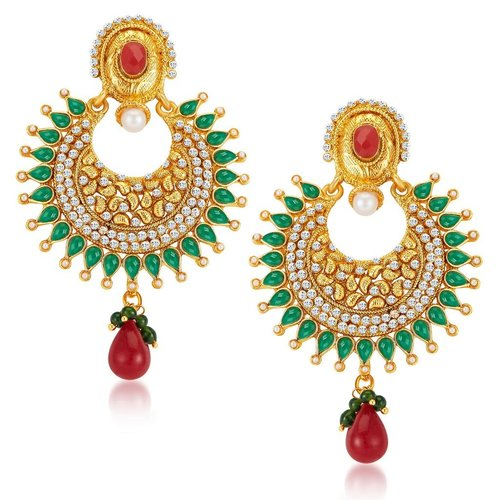 Magnificent Gold Plated Earrings