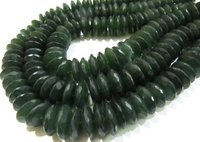 AAA Quality Natural Serpentine German Cut Rondelle Faceted Beads