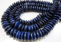 AAA Quality Natural Lapis Lazuli German Cut Rondelle Faceted Beads