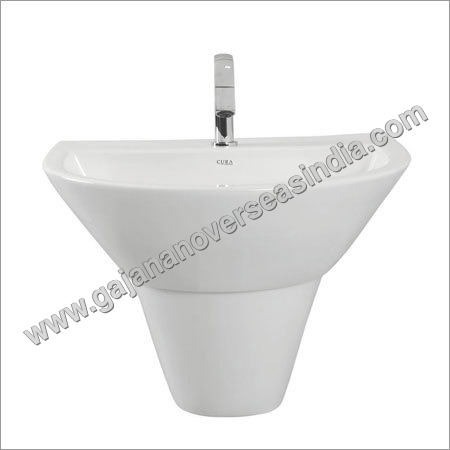 Wall Pedestal Wash Basin