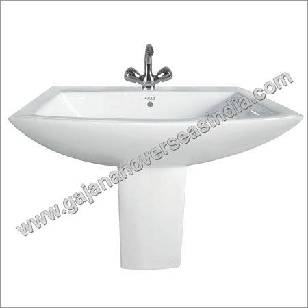 Corner Pedestal Wash Basin
