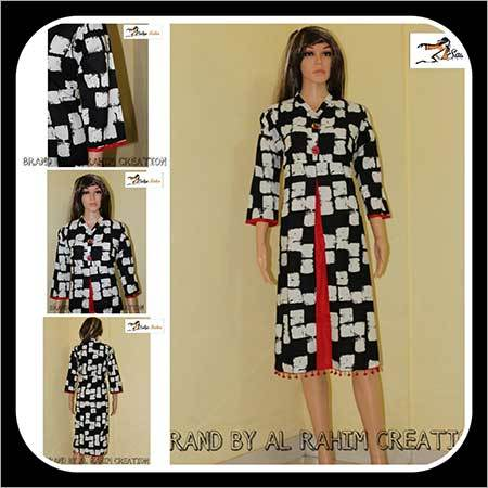 Ladies Designer Block Print Kurti