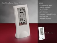 SEE THRU TABLE CLOCK