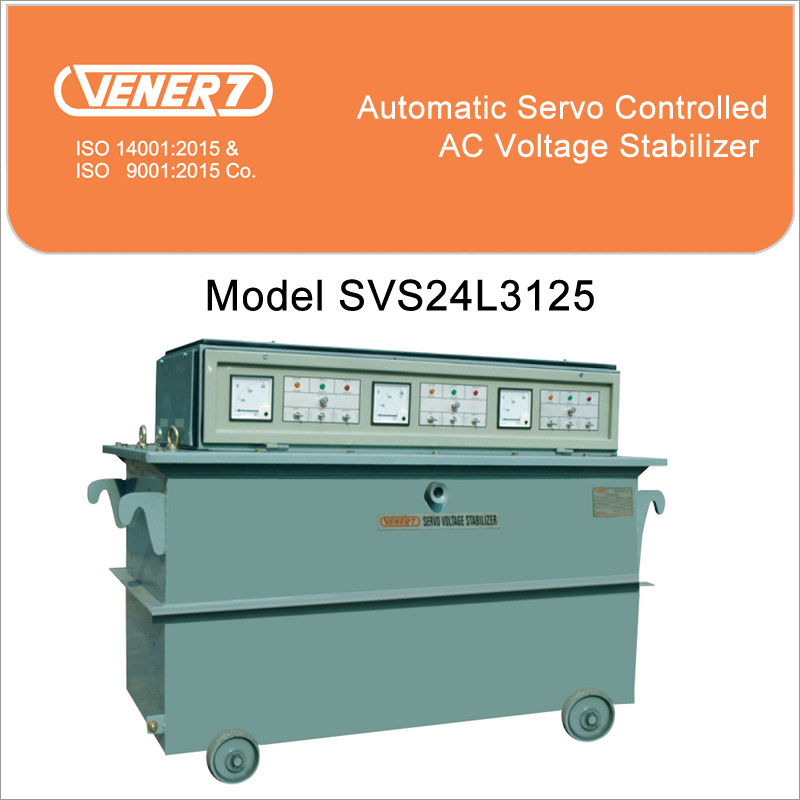 125kVA Automatic Servo Controlled Oil Cooled Voltage Stabilizer