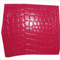 Buffalo Calf Crocodile Printed Leather
