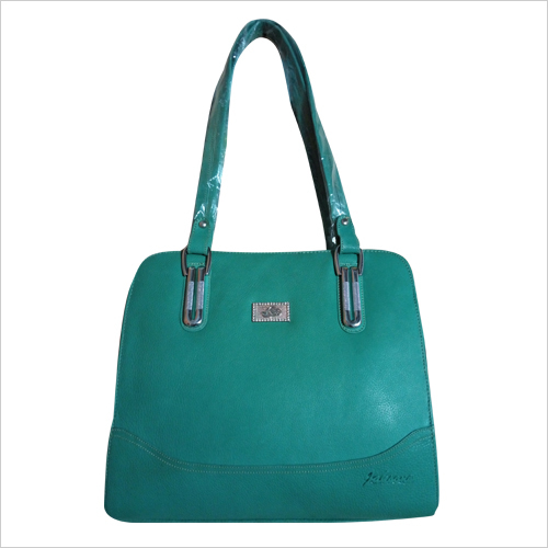 Ladies Green Leather Hand Bag