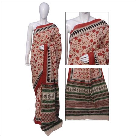Womens Bagru Print Sarees