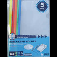Colored Rail Clear Holders