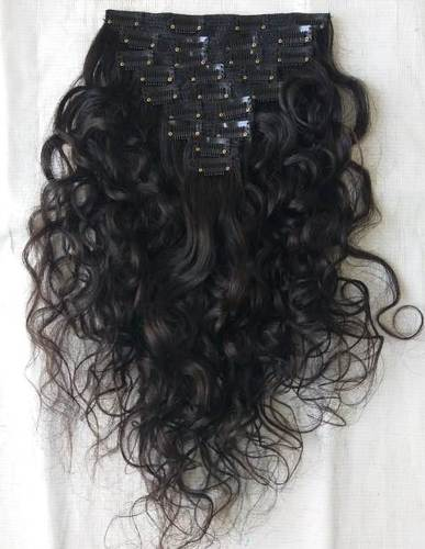 Natural Raw Virgin Curly Clip In Extension