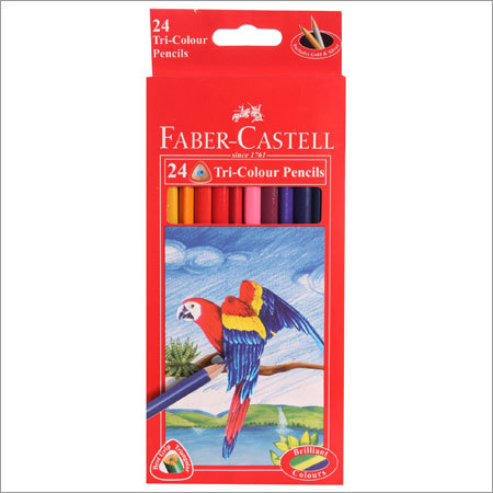 Faber Castell Triangular Color Pencil 24 Shades